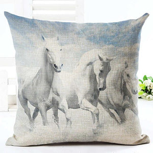 Cushion Cover 9 Running Horse Cotton Linen Pillowcase