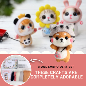 Cute Craft - DIY Animal Kit DIY Embroidery Kit