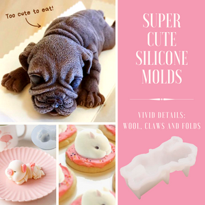 Cute & Fluffy 3D Animal Molds Dog Cake Molds