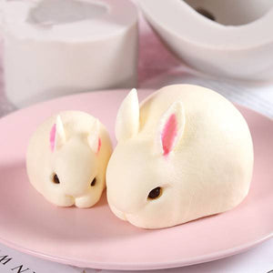 Cute & Fluffy 3D Animal Molds Rabbit large Cake Molds