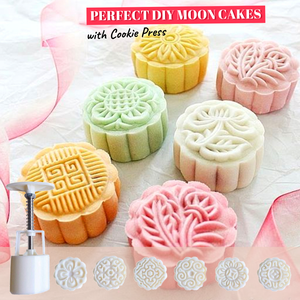 Cute Shaped Pastries - Cookie Presser Mold Set Symbolic circles (6 pcs set) Baking & Pastry Tools