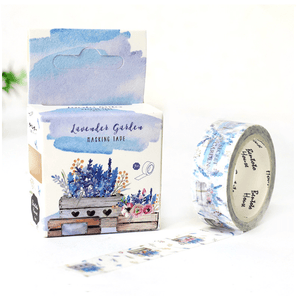 DIY-Craft Washi Tapes Lavender Garden Office Adhesive Tape