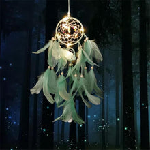 Load image into Gallery viewer, Dream Come True - LED Light Dream Catcher Green Dream catcher Light