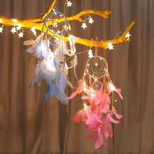 Load image into Gallery viewer, Dream Come True - LED Light Dream Catcher Pink Dream catcher Light