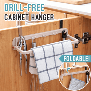 Drill-free Folding Storage Hanger Kitchen Rack