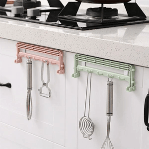 Drill-free Folding Storage Hanger Green Kitchen Rack