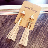 Drop Earrings Vintage Triangle Tassel Drop Earrings