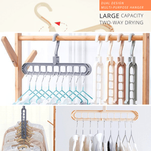 Dual Design Multi-Purpose Hanger Gray Clothing Hangers