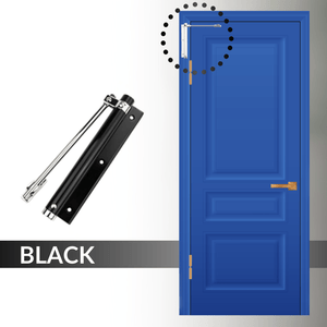 Easy Close - Automatic Door Self Closer Black Door Closers