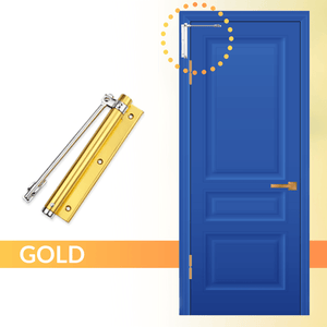 Easy Close - Automatic Door Self Closer Gold Door Closers