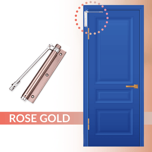 Easy Close - Automatic Door Self Closer Rose gold Door Closers