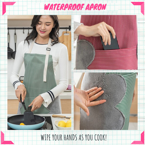 Easy Cook - Multi-functional Kitchen Apron Green Aprons