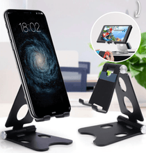 Load image into Gallery viewer, Easy Hold - Foldable Phone Holder Black Tablet Stands