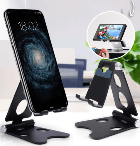 Easy Hold - Foldable Phone Holder Black Tablet Stands