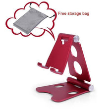Load image into Gallery viewer, Easy Hold - Foldable Phone Holder Red Tablet Stands