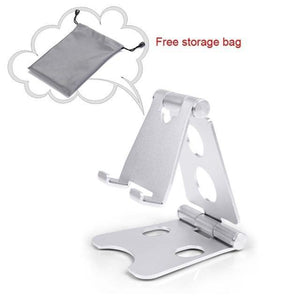 Easy Hold - Foldable Phone Holder Silver Tablet Stands