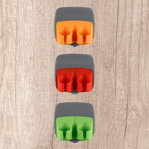 Easy Peel - Finger Blade Peeler Green + orange + red (3 pcs set) Peelers & Zesters