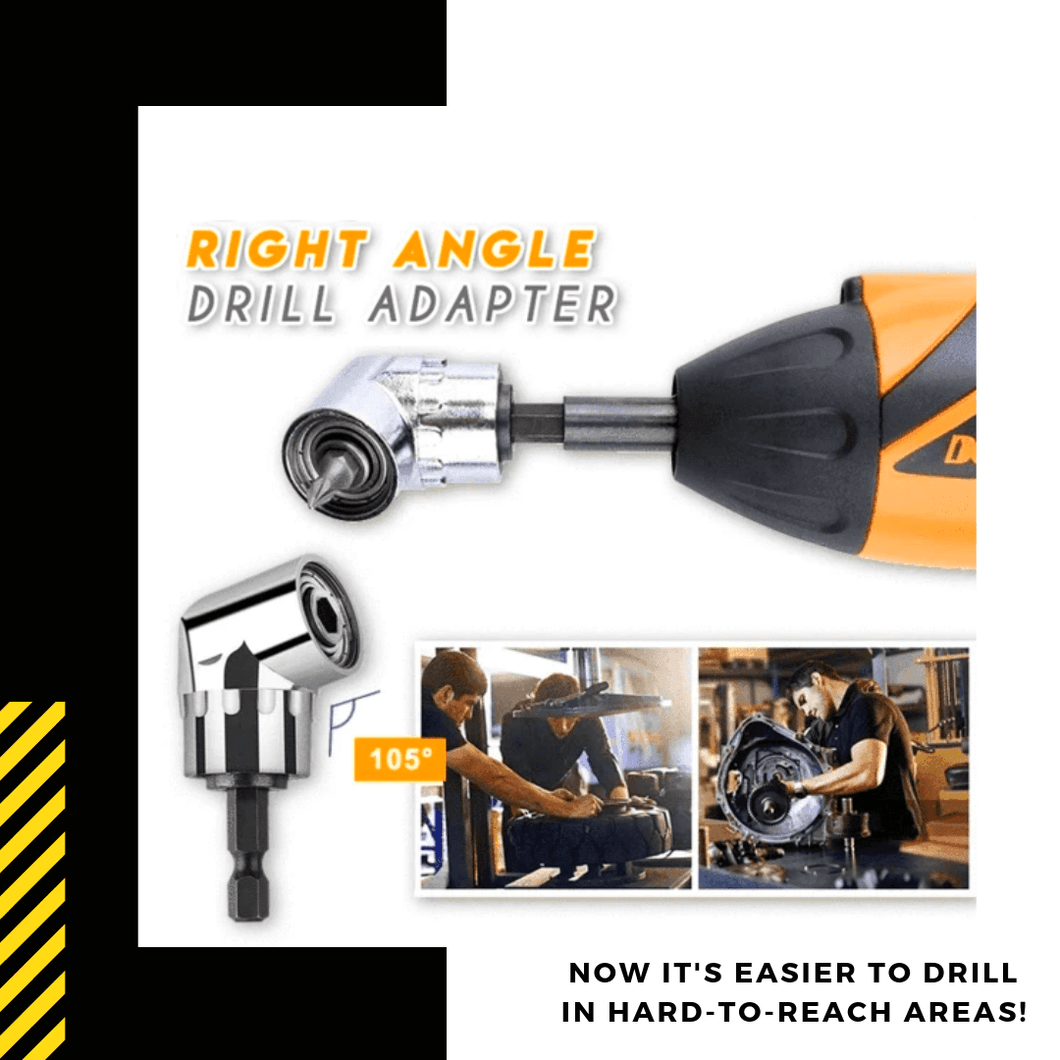 Easy Reach - Right Angle Drill Adapter Short Drill Bits
