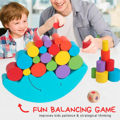 Educational Toy - Wooden Balancing Game Baby Blocks