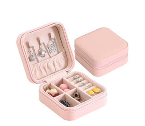 Elegant Outlook Travel Jewelry Box Beige Without Mirror Jewelry Box