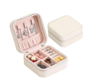 Elegant Outlook Travel Jewelry Box Silver Without Mirror Jewelry Box