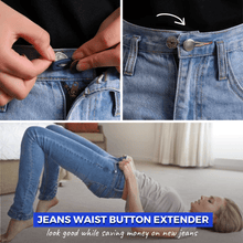 Load image into Gallery viewer, Extended Waist - Jeans Retractable Button (3 pcs set) Basic - silver Buttons