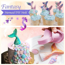 Load image into Gallery viewer, FantaSEA - 3D Silicone Mermaid Mold (4 pcs set) Set A (4 pcs) Cake Molds