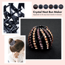 Load image into Gallery viewer, Fashion Crystal® Hair-styling Clip Classy purple and gold Hair Accessories