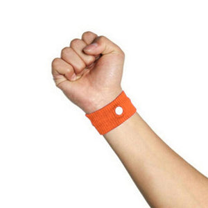 Fast Efficiency Anti Nausea Wristband Orange Wrist Support