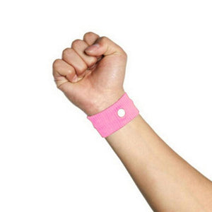 Fast Efficiency Anti Nausea Wristband Pink Wrist Support