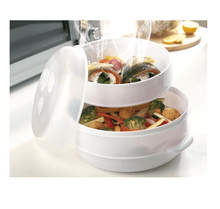 Load image into Gallery viewer, Fast & Healthy Food Steamer Microwave Steamer