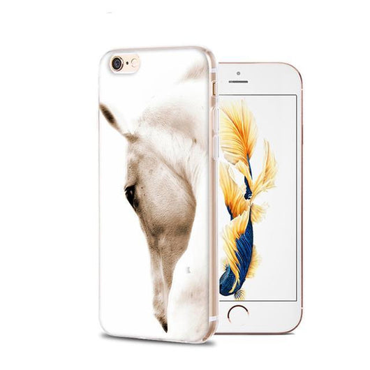 Fitted Cases 1 / For iPhone 4 4s Horse Animal Printed Soft Cover For iPhone