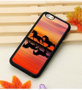 Fitted Cases 10 / For iPhone 7 Horse Running Printed iPhone Case