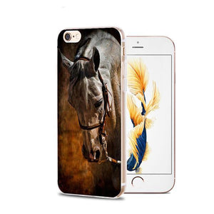 Fitted Cases 11 / For iPhone 4 4s Horse Animal Printed Soft Cover For iPhone