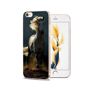 Fitted Cases 12 / For iPhone 4 4s Horse Animal Printed Soft Cover For iPhone