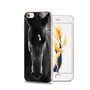 Fitted Cases 13 / For iPhone 4 4s Horse Animal Printed Soft Cover For iPhone