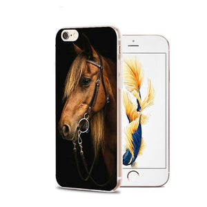Fitted Cases 2 / For iPhone 4 4s Horse Animal Printed Soft Cover For iPhone