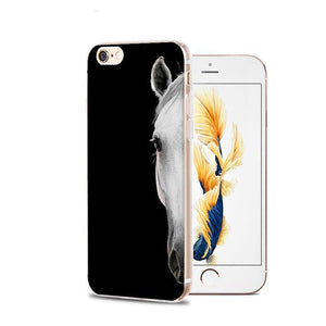 Fitted Cases 3 / For iPhone 4 4s Horse Animal Printed Soft Cover For iPhone