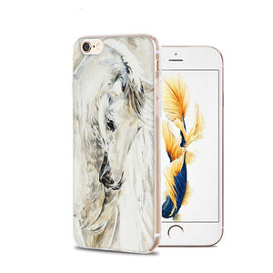 Fitted Cases 4 / For iPhone 4 4s Horse Animal Printed Soft Cover For iPhone
