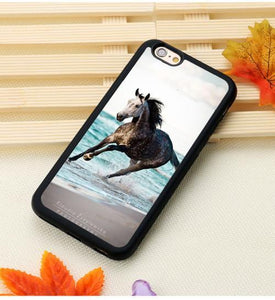 Fitted Cases 4 / For iPhone 7 Horse Running Printed iPhone Case