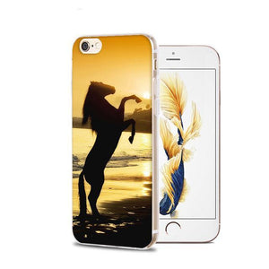 Fitted Cases 5 / For iPhone 4 4s Horse Animal Printed Soft Cover For iPhone