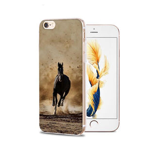 Fitted Cases 6 / For iPhone 4 4s Horse Animal Printed Soft Cover For iPhone