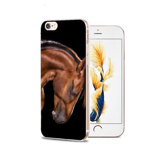 Fitted Cases 7 / For iPhone 4 4s Horse Animal Printed Soft Cover For iPhone