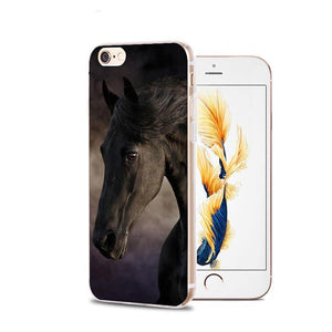 Fitted Cases 8 / For iPhone 4 4s Horse Animal Printed Soft Cover For iPhone