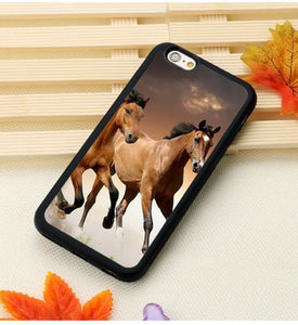 Fitted Cases 8 / For iPhone 7 Horse Running Printed iPhone Case