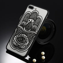 Load image into Gallery viewer, Fitted Cases Black hamsa / For iPhone 5 / 5s SE Oriental Flower Case