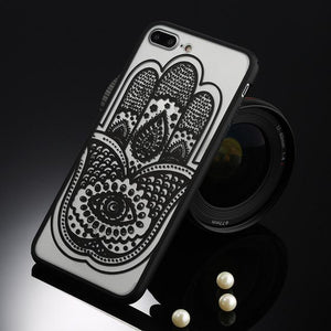 Fitted Cases Black hamsa / For iPhone 5 / 5s SE Oriental Flower Case