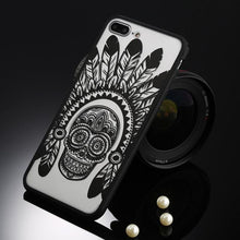Load image into Gallery viewer, Fitted Cases Black Indian skull / For iPhone 5 / 5s SE Oriental Flower Case