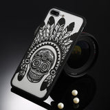Fitted Cases Black Indian skull / For iPhone 5 / 5s SE Oriental Flower Case