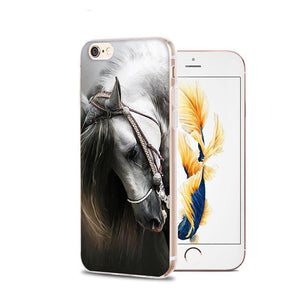 Fitted Cases Horse Animal Printed Soft Cover For iPhone